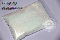 0 2mm 008 Size Shinning Bullion White Colorful Color Glitter Powder 50g Bag
