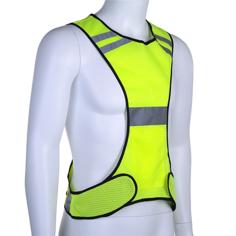 Night Fluorescent High Visibility Reflective Safety Vest Elastic Strap Night Running Riding Equipment