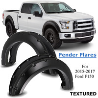 4pcs Pocket Rivet Fender Flares Textured Mud Flaps Mudguards Splash Guards For Ford F150 2015 2016 2017