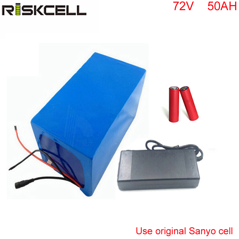 Electric bike battery 72v 50ah lithium ion battery 72v 7000W 5000W ebike li-ion battery pack  For Sanyo GA3500 Cell free customs taxes super power 1000w 48v li ion battery pack with 30a bms 48v 15ah lithium battery pack for panasonic cell