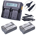 Batmax 2 шт. EN-EL3E батарея EN EL3E ENEL3E + быстрое двойное зарядное устройство для Nikon D70 D70S D80 D90 D100 D200 D300 D300S D700