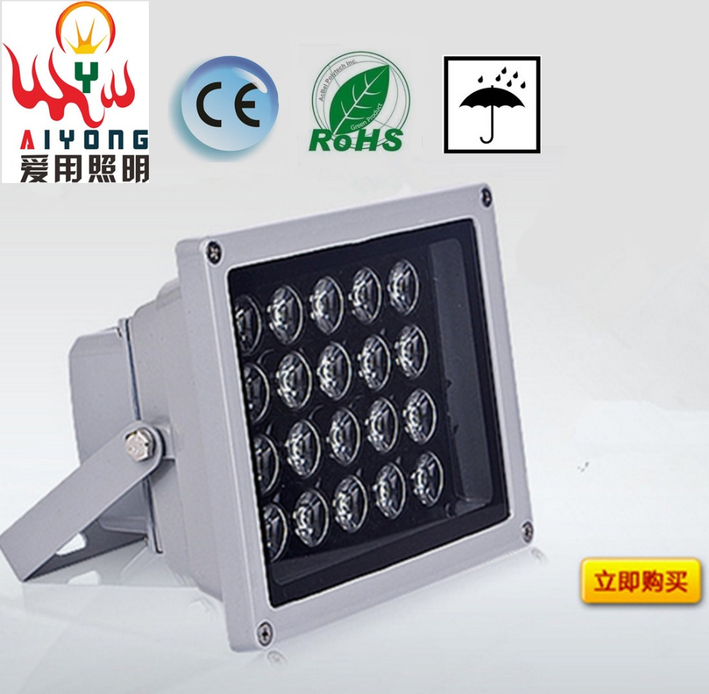 ФОТО LED floodlights 10w20w30w50w monitoring fill light projection lamp outdoor waterproof outdoor advertising signs on sale