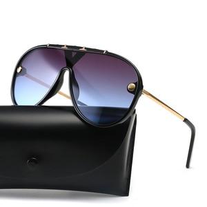 JackJad 2019 Fashion Modern Aviation Pilot Style Rivets Sunglasses Cool Gradient Brand Design Sun Glasses Oculos De Sol 20045(China)