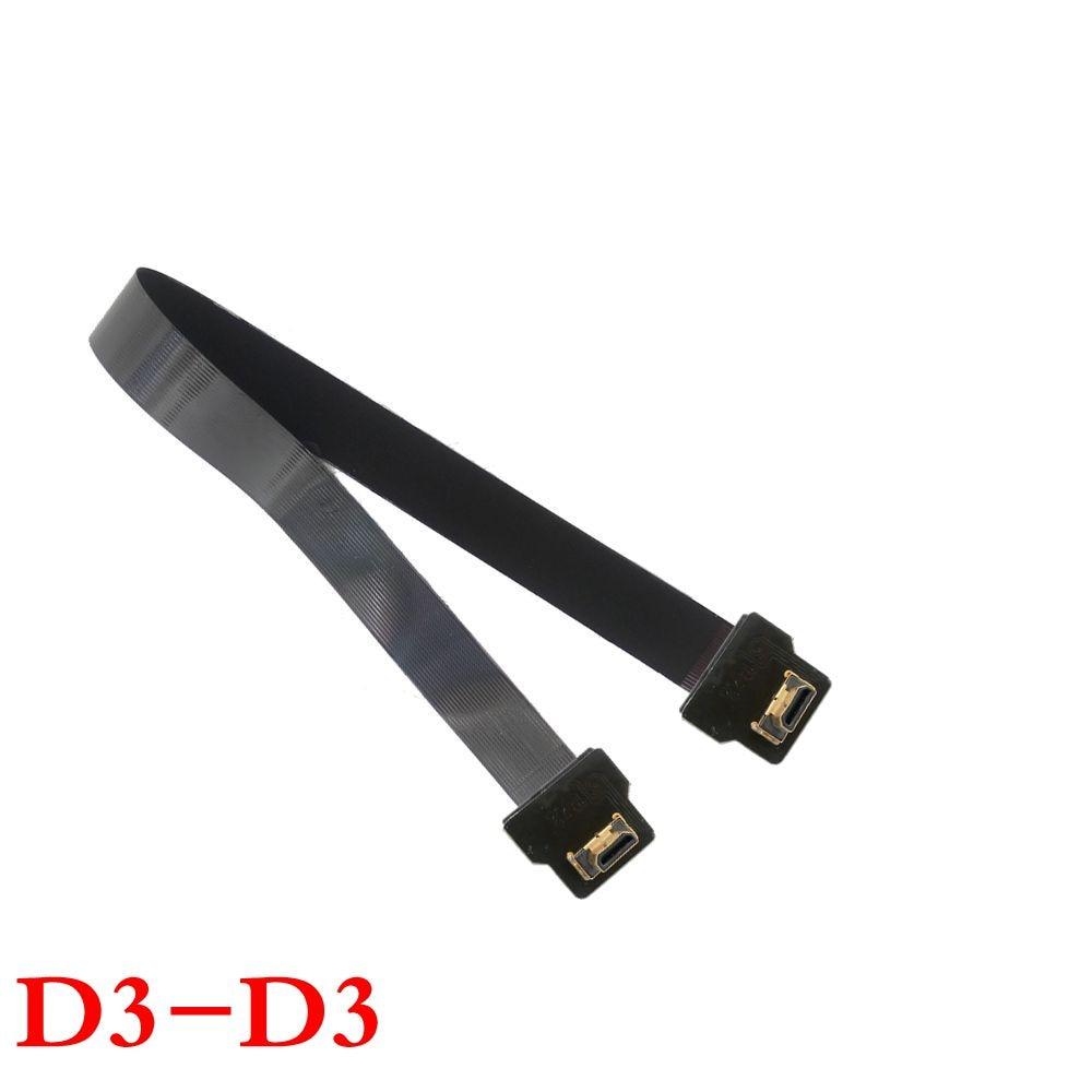 Micro HDMI Man till HDMI Man 90 Degree FPC Flat FPV HDMI Kabel 10cm - Datorkablar och kontakter - Foto 6