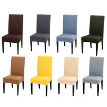 Chair Cover Solid Printing Flexible Elastic Anti-dirty Wedding Banquet Party Home Decoration Spandex Furniture
