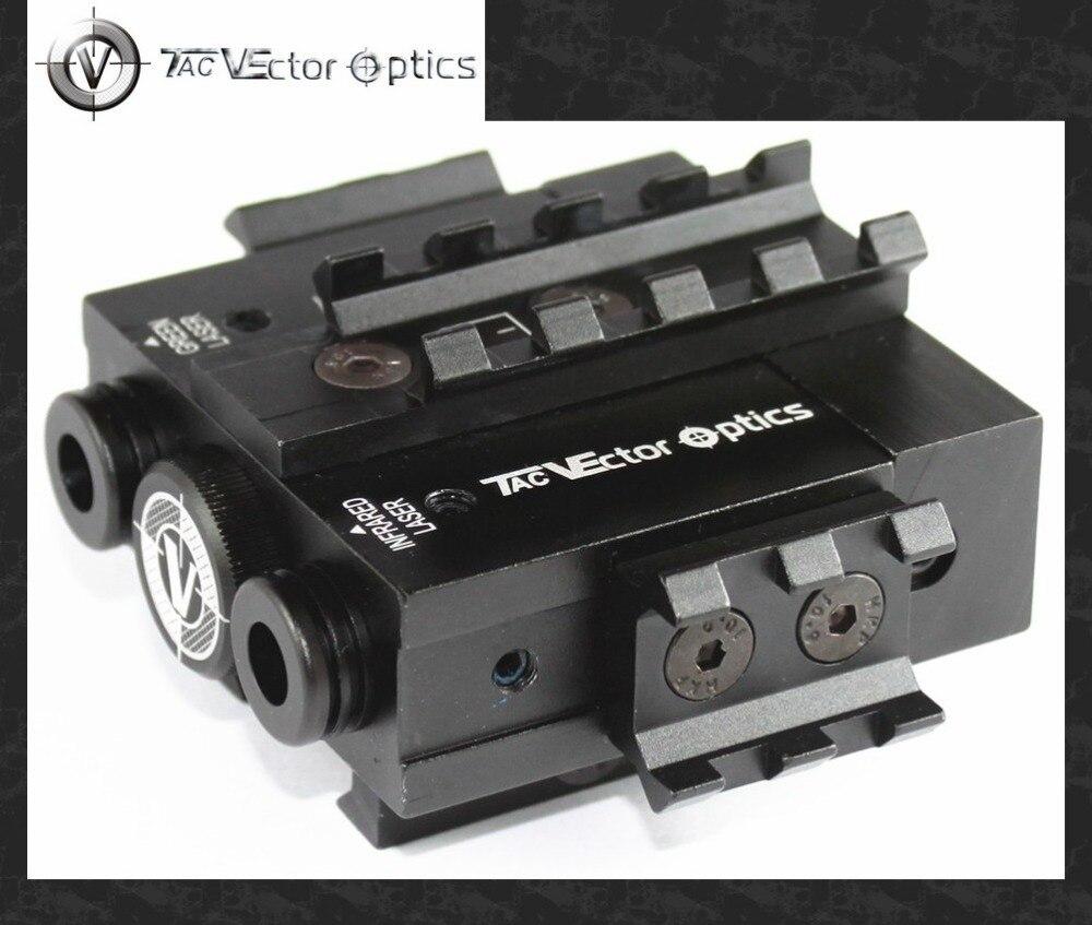 Тактический лазерный прицел Viperwolf, 5 мВт, зеленый лазерный прицел и ИК прицел, Combo AR M4, указка, осветитель, подходит для рельсовой направляющей