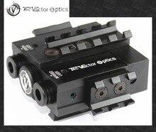 Оптики вектора Viperwolf Тактический 5 МВт зеленый лазерный прицел и ИК Лазерная комбинированный прицел AR M4 целеуказатель указатель Просветитель подходит 20 мм Rail