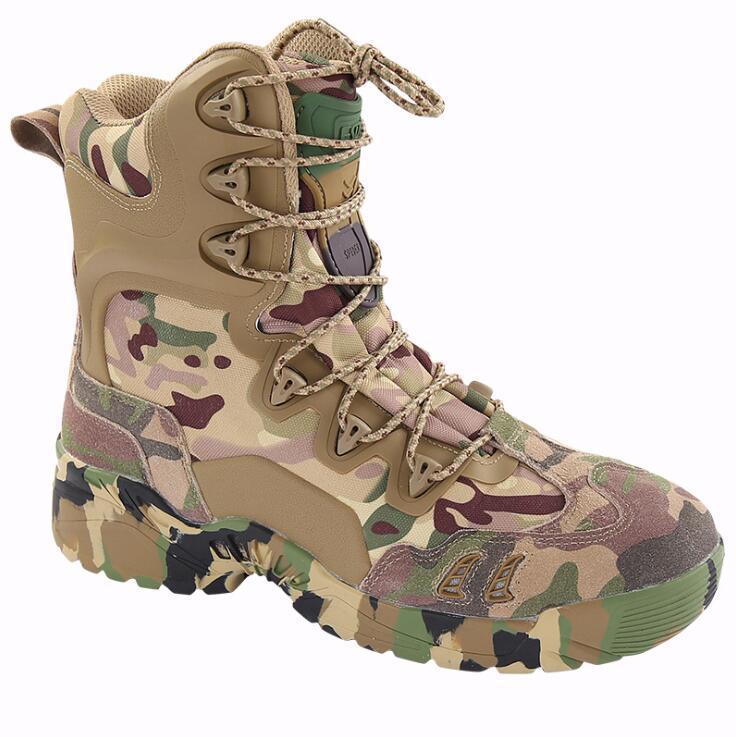 ESDY extérieur Camouflage escalade bottes militaire tactique Combat hommes cheville armée bottes respirant haute agression randonnée baskets
