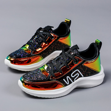 Allwesome 2019 Fashion Sneakers Women Trendy Chunky Dad Shoe Laces Platform Shoes Magic Color Matching Chaussures