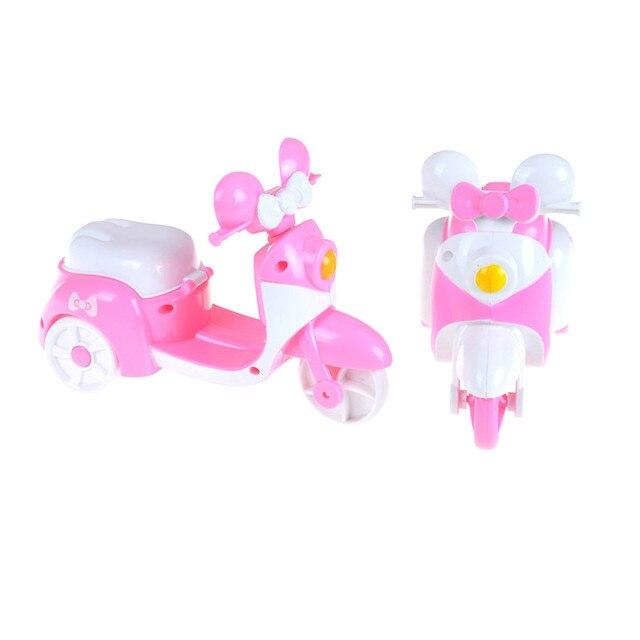 Cute Pink Boneka Motor Accesorries Anak Bermain House Mainan Mobil Hadiah  16 7 11.8 6d17a6c57a