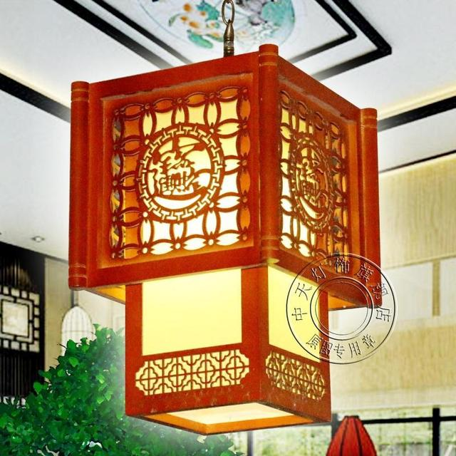 Chinese restaurant table wood chandelier lighting aisle entrance chinese restaurant table wood chandelier lighting aisle entrance corridor study traditional carved wooden lamps lighting aloadofball Gallery