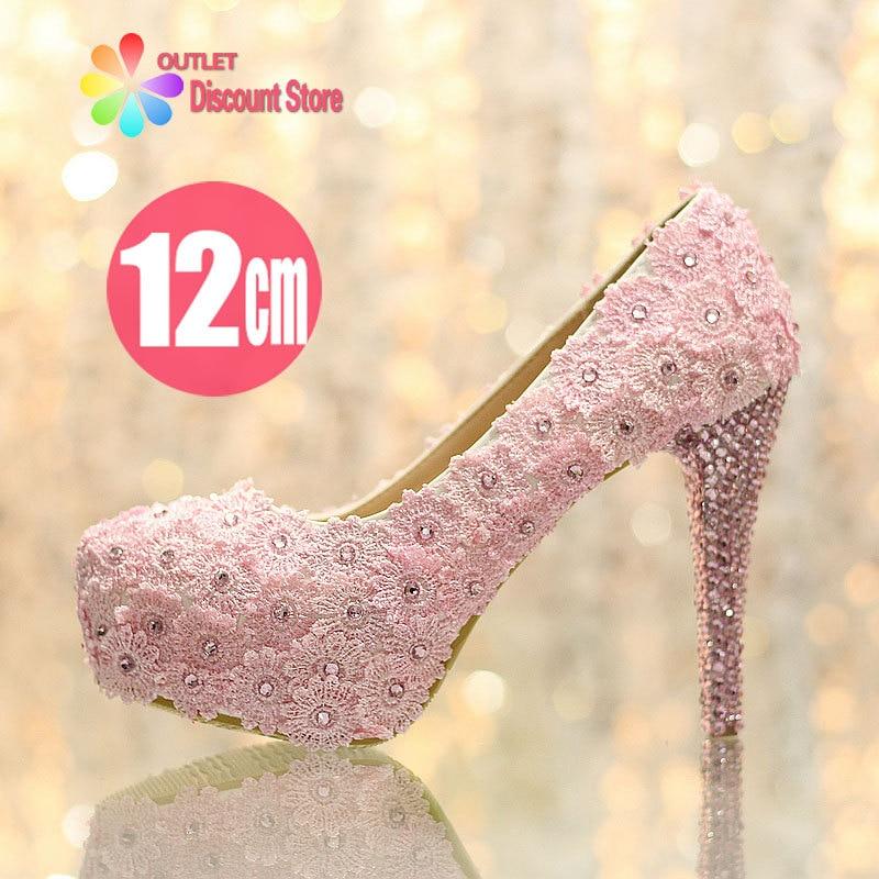 75e0133165c4c Hot Sale 5 Inch Light Pink Lace wedding shoes sapato feminino bridal high  heels sexy platform pumps prom stiletto zapatos SJW066