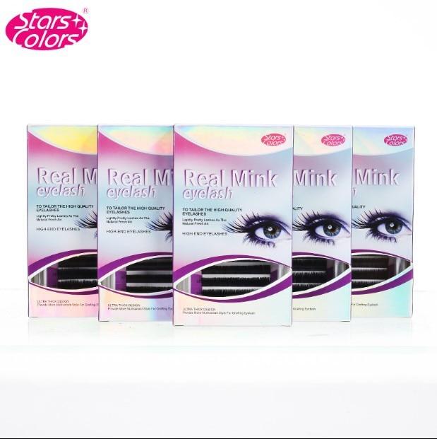 2746a07d343 Stars Colors Natural Real Mink Material false eyelash Imported Quality  comfortable soft grafting soft mink Fake