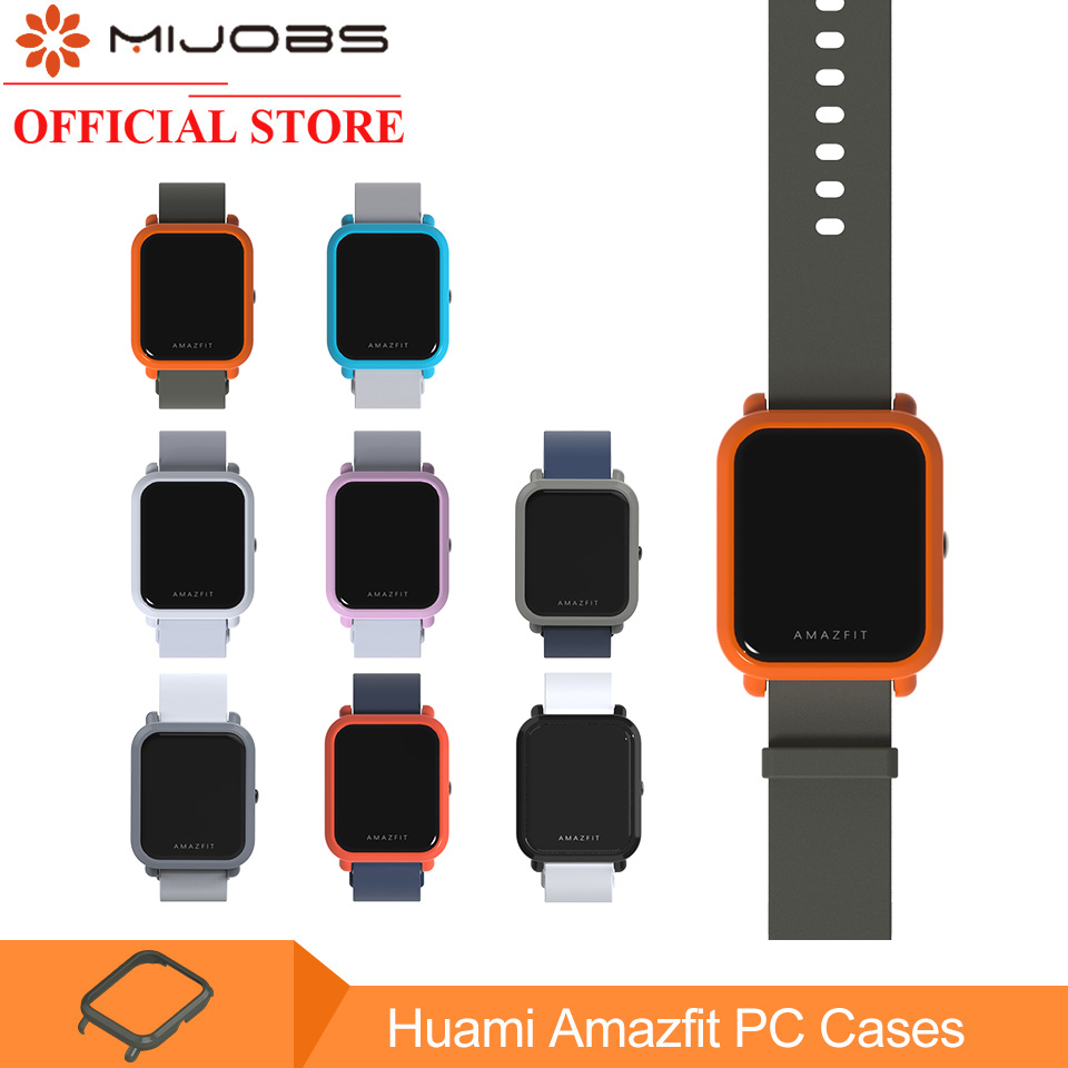 Mijobs Slim Colorful Protective Case Cover for Xiaomi Huami Amazfit Bip BIT PACE Lite Youth Watch Hard Plastic PC Shell Bumper mijobs 20mm silicone wrist strap protective case cover plastic pc shell for huami xiaomi amazfit bip bit pace lite smart watch