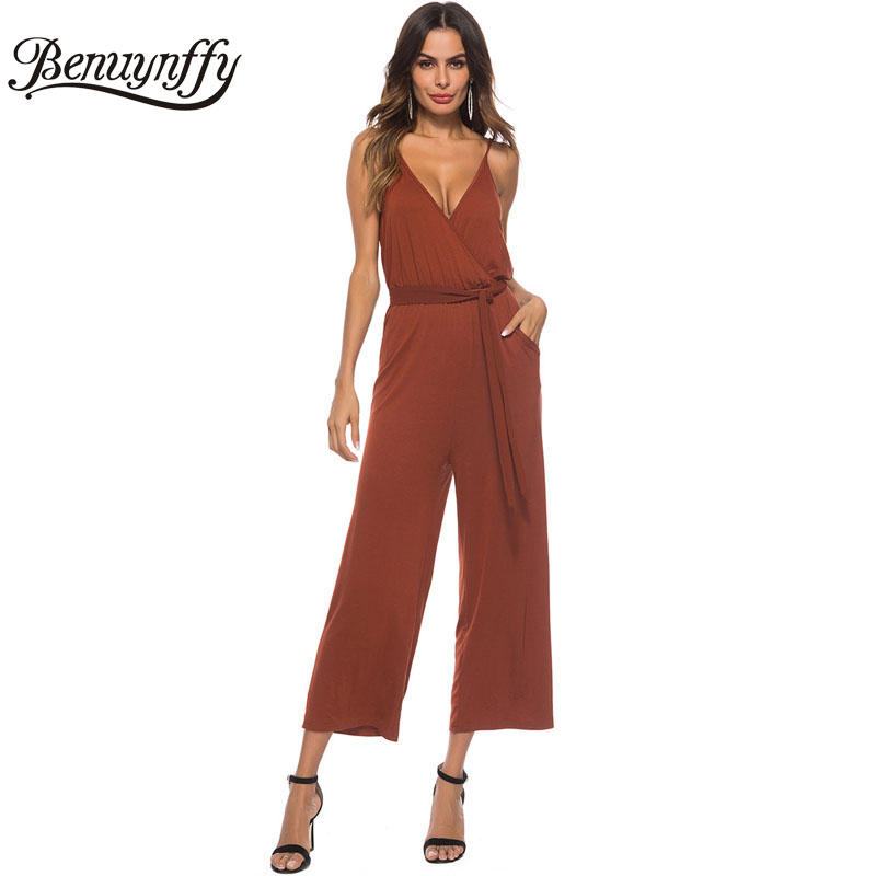 Benuynffy Sexy V-neck Hollow Out Knot Holiday Dress 2019 Boho Floral Print Women Summer Beach Spaghetti Strap Long Maxi Dress Women's Clothing