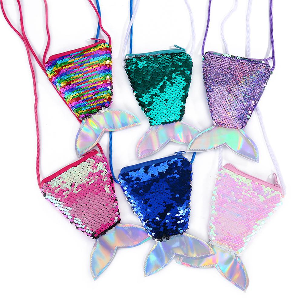 Mermaid Fishtail Sequins Kids Girls Coin Candy Holder Mini Shoulder Bag High Quality Bags For Women Messager Bags DesignerMermaid Fishtail Sequins Kids Girls Coin Candy Holder Mini Shoulder Bag High Quality Bags For Women Messager Bags Designer