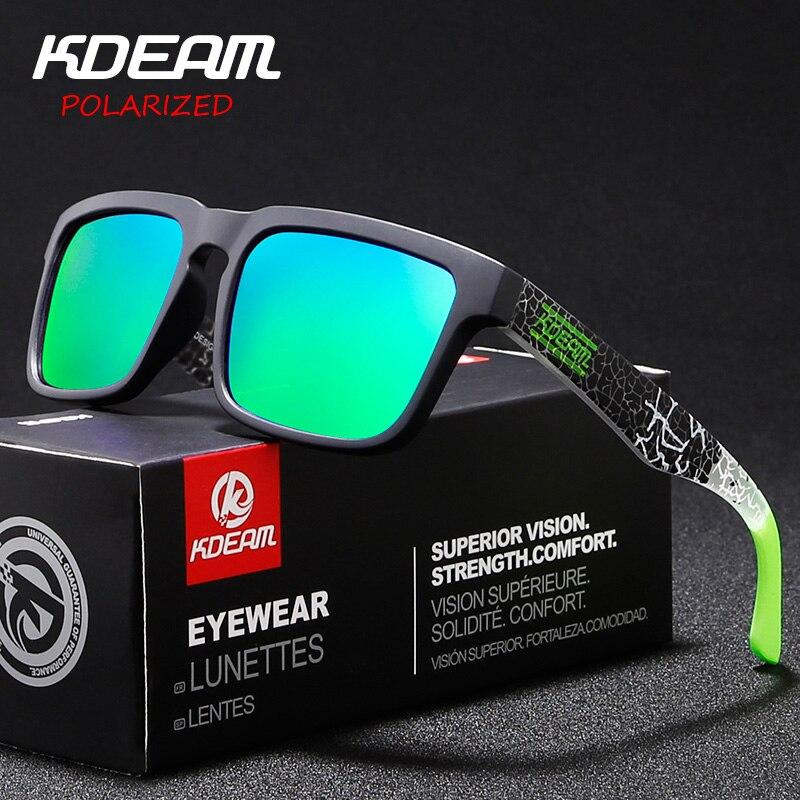 3ae09acfe6490 KDEAM Clássico Polarizada Óculos De Sol Dos Homens do Estilo Dos Esportes  HD Moda Óculos de
