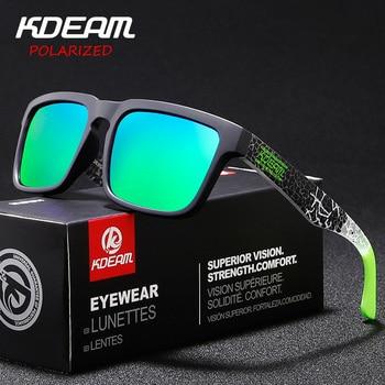 2860741813 Gafas de sol polarizadas clásicas KDEAM estilo deportivo para hombre Gafas  de sol HD de alta calidad lentes Polaroid Gafas para hombre XH8