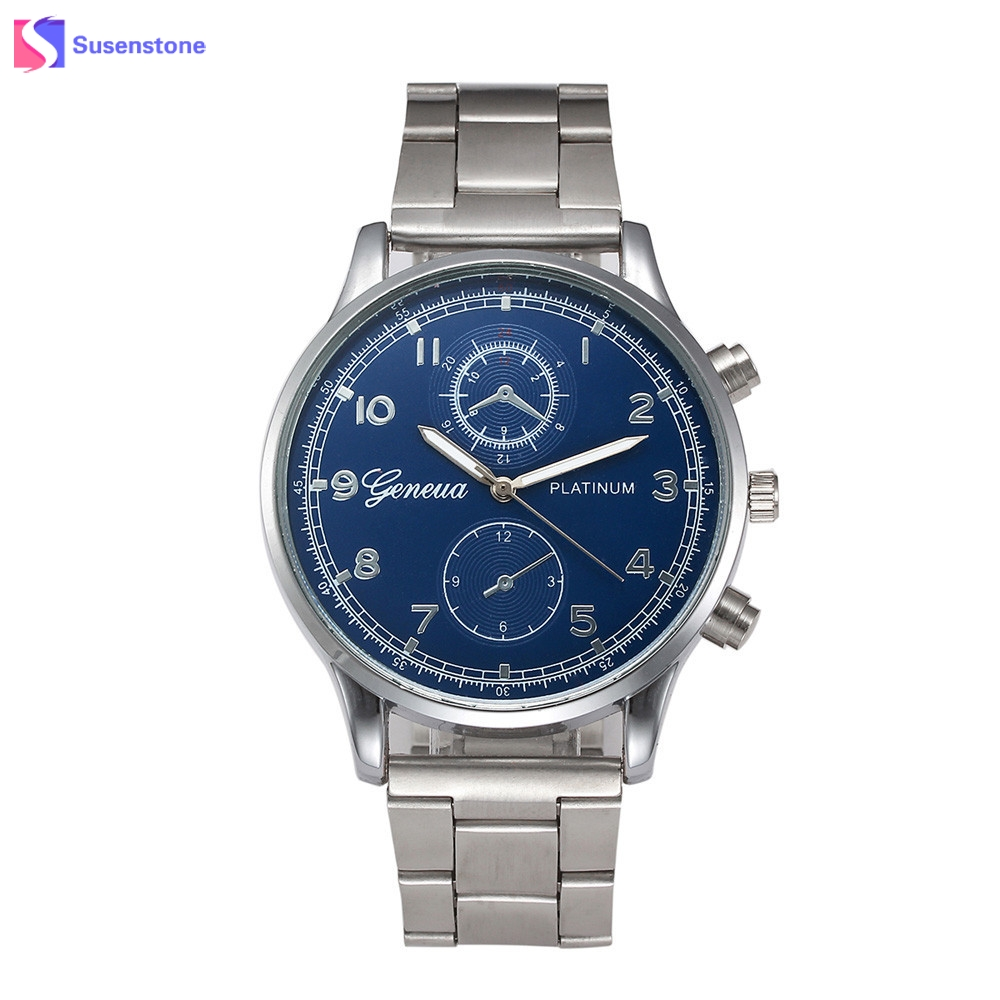 Top Brand Luxury Watch Men Analog Quartz Clock Stainless Steel Band Roman Numerals Wristwatch Fashion Business Men's Male Watch rushed real new with tags 2pcs set 2016 fashion business stainless steel roman numerals quartz leather band lovers watch