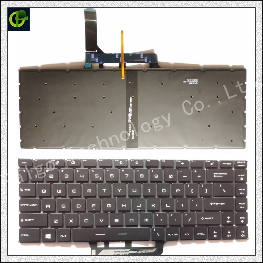 Английская клавиатура с подсветкой для MSI GF63 MSI GS65 8RC 8RD 8RE Stealth 8RF THIN GS65VR MS-16Q1 ноутбука США