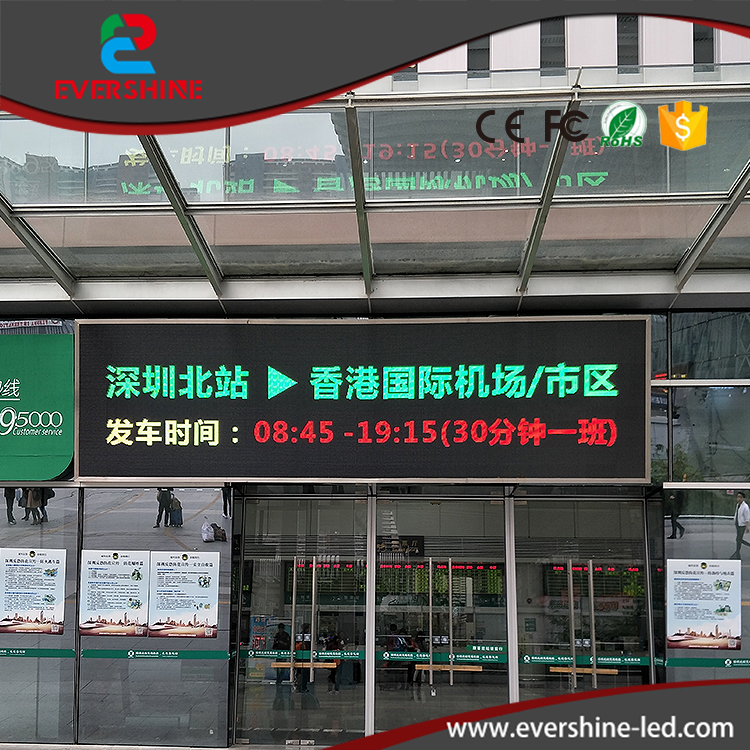 P10 Outdoor Customized LED Sign RG display board double color LED Advertising banner usage for airport,hospital,hotel and square clear acrylic a3a4a5a6 sign display paper card label advertising holders horizontal t stands by magnet sucked on desktop 2pcs