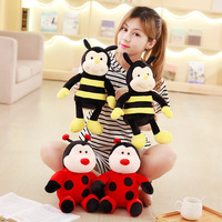 New Coming 1Pc 36Cm Insect plush toys bee ladybird doll Yellow Red stuffed plush animals kids Christmas Gift
