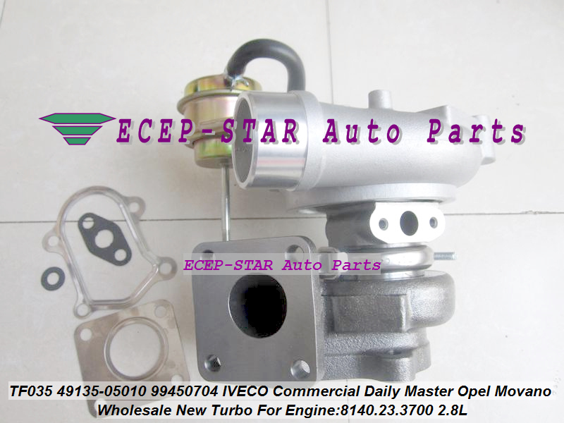 TF035 49135-05010 53149886445 Turbo turbocompresseur pour IVECO Commercial Daily II pour Renault Master Movano SOFIM 8140.23.3700 2.8L