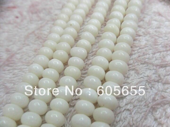 4x6 мм белый цвет коралловый полудрагоценный камень rondelle бусины 10 нитей в партии