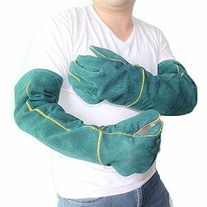 Image 2 - Anti bite veiligheid bite handschoenen voor Catch hond, kat, reptiel, dier Ultra lange lederen groene Huisdieren grijpen bijten beschermende handschoenen