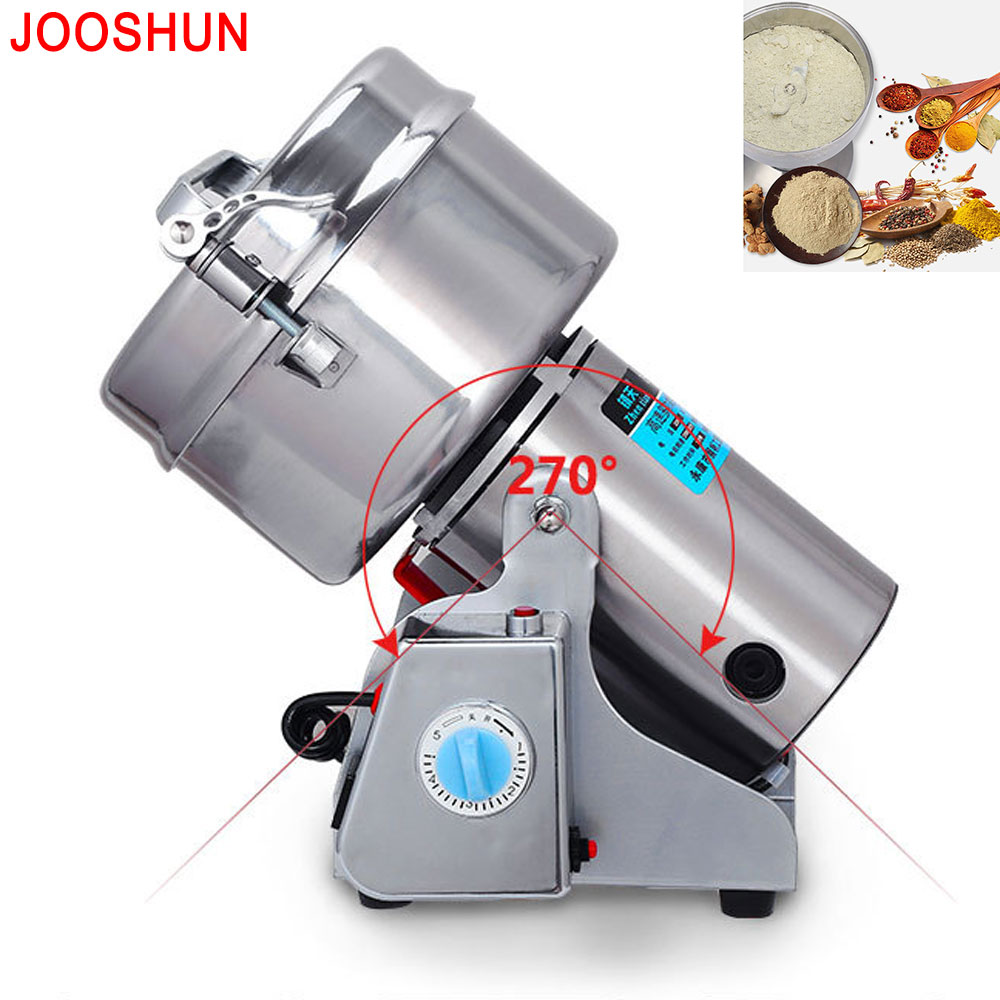1PC Top Quality 1000G Swing Type Portable Baby Rice Grinder Food Pulverizer Grain Herb Mill Grinding Powder Machine 3200W high quality 2000g swing type stainless steel electric medicine grinder powder machine ultrafine grinding mill machine