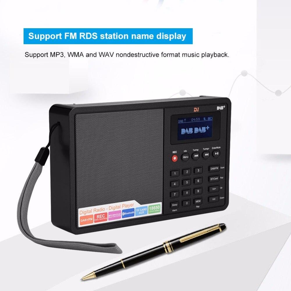 Qualifiziert Tragbare Bluetooth Radio Dab Fm Rds Digital Radio Stereo 1,8-zoll Lcd Display Unterstützung Uhr/schlaf Tf Karte Mp3 Wma Und Wav Online Shop
