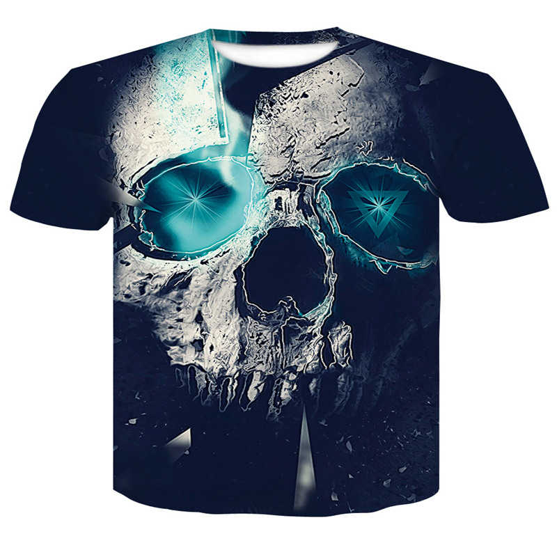 8157036a5a1 Detail Feedback Questions about Men Tshirt 2018 new skull 3D Print T ...