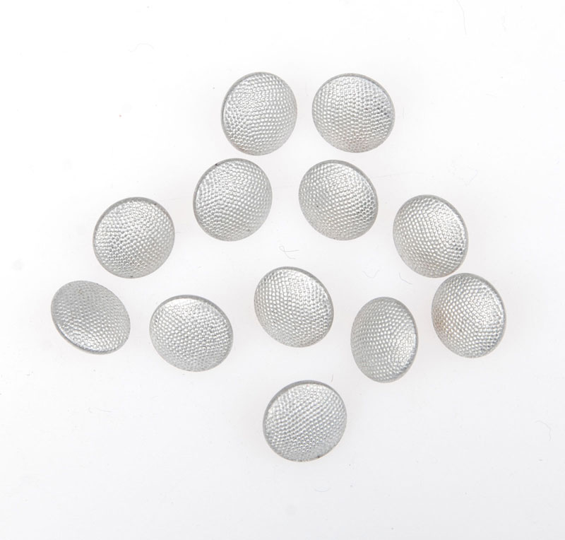 12 PCS WWII GERMAN CAP HAT BUTTONS SILVER 12MM