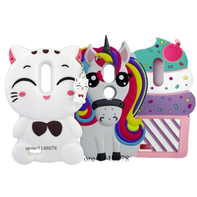 ZTE Zmax Pro Case Cute 3D Cartoon Unicorn Pattern Soft Rubber Silicon Back Cover Case For ZTE Zmax Pro Z981 6.0 inch