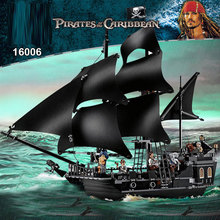 DIY Boat Blocks 804pcs Pirates of the Caribbean Warship The Black Pearl Ship Building Blocks Toy For Children Adults