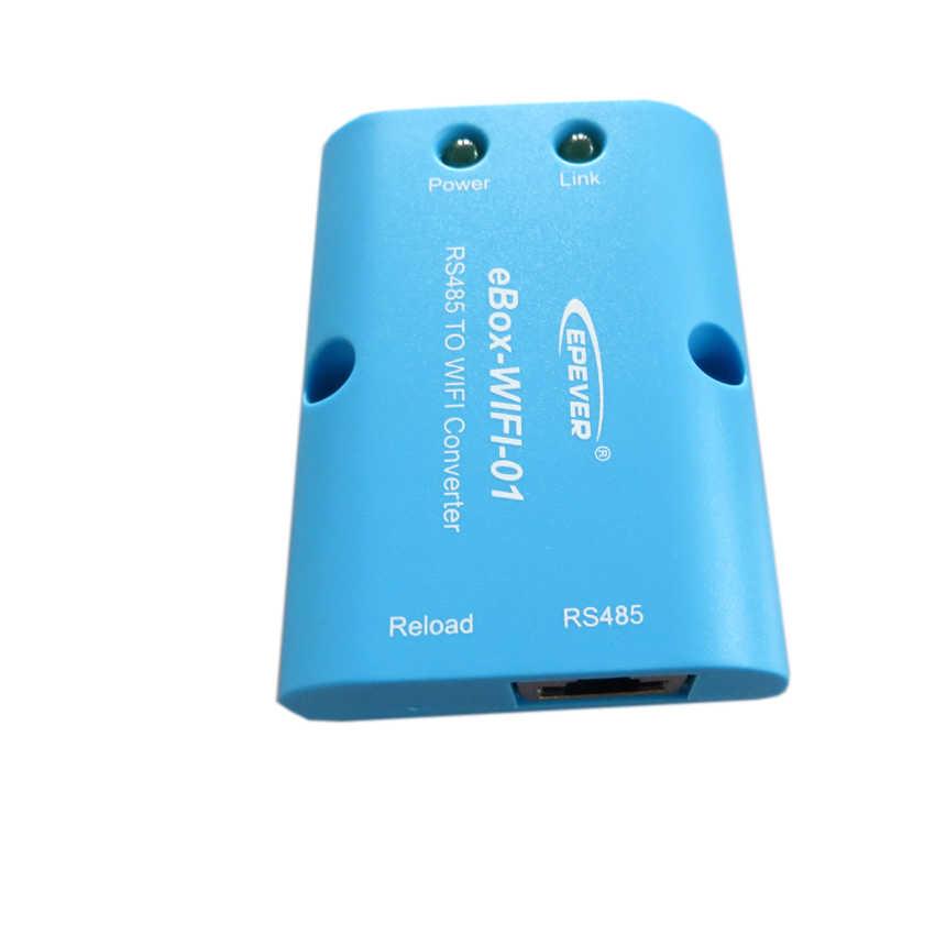 Max PV entrada 100 V Tracer2210CN con caja wifi APP conectar solar 20A 20amp controlador de cargador EPEVER EPSolar 12 v/24 V