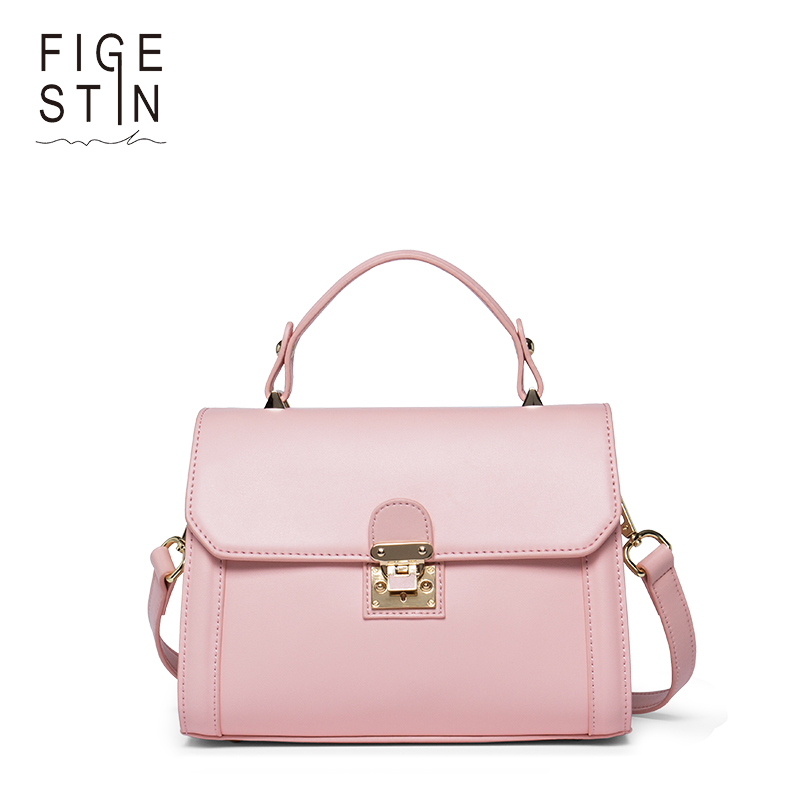 FIGESTIN Women's Luxury Shoulder Bags Split-leather Fashion Pink Mini Top-handle Tote Bag Elegant Shoulder Crossbody Bags New figestin mini top handle handbags for women fashion split leather green cover shoulder bags small totes crossbody hand bag new