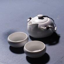 Tee-Set Chinesische Reise Keramik Tragbare Eine Teekanne Zwei Tassen von Tragbaren Reise Kung-fu-tee-set Keramik Büro Persönliche Tea Sets T03
