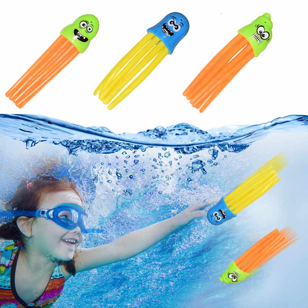 3 ชิ้น/เซ็ต Octopus โยนของเล่นฤดูร้อน Early การศึกษาของเล่นเด็กใต้น้ำ Dive Float ปริศนาสนุกว่ายน้ำดำน้ำเกมของเล่น