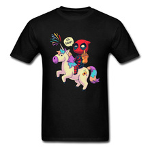 Avengers Endgame Deadpool Unicorn Rainbow Tshirts Thanos Funny Dead Pool Knight Cartoon New T Shirt For Men Marvel Hero