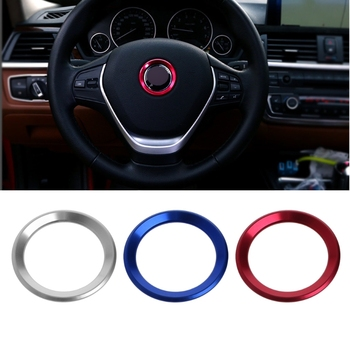 1Pc Car Steering Wheel Decoration Circle Cover Sticker For BMW X1 E60 E36 E39 E46 E30 image