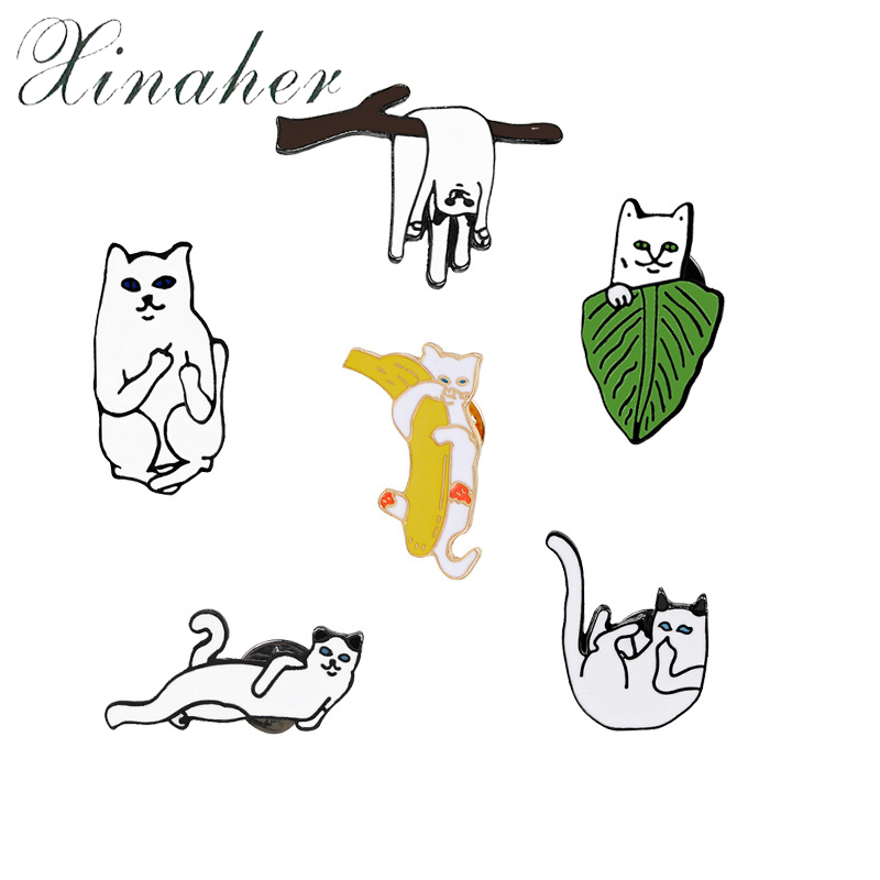 Arts,crafts & Sewing Apparel Sewing & Fabric Xinaher 1pc Cartoon Fat Cat Metal Badge Brooch Button Pins Denim Jacket Pin Jewelry Decoration Badge For Clothes Lapel Pins