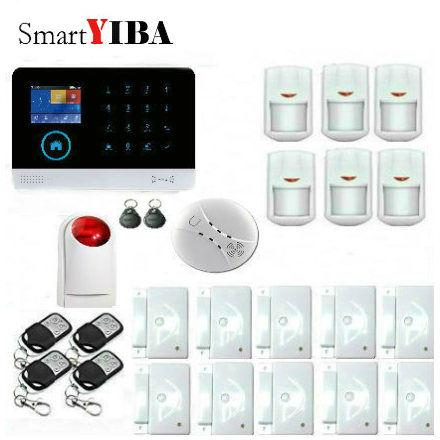 SmartYIBA 3G WCDMA WIFI Home Burglar LCD Touch Screen font b Alarm b font Panel Home