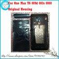 Para htc one max t6 809d 803 s 8088 nuevo original de la cubierta completa frame LCD + puerta de la batería + Bottom Top & Cubierta de la Tapa de Reemplazo partes