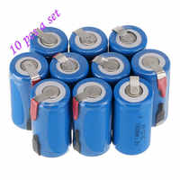 New 10Pcs 22*42mm Sub C SC Rechargeable Battery 1.2V 1800mAh NI-CD Batteries With PCB For Electronic Tools