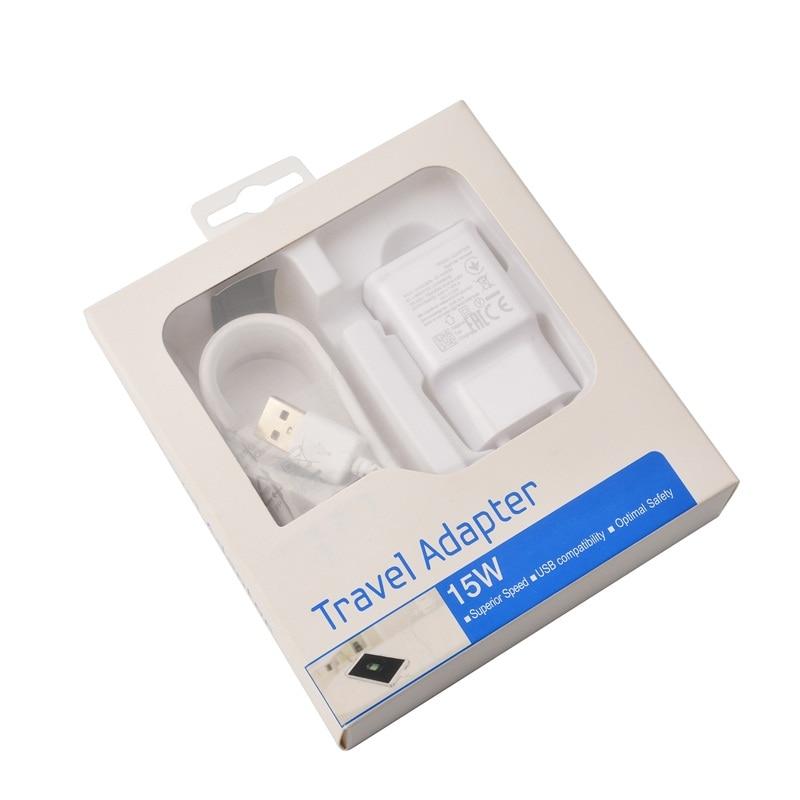 50 PCS Lot EU US Plug Quick Charger Fast Charging Adaptive 1 5M Micro USB Cable