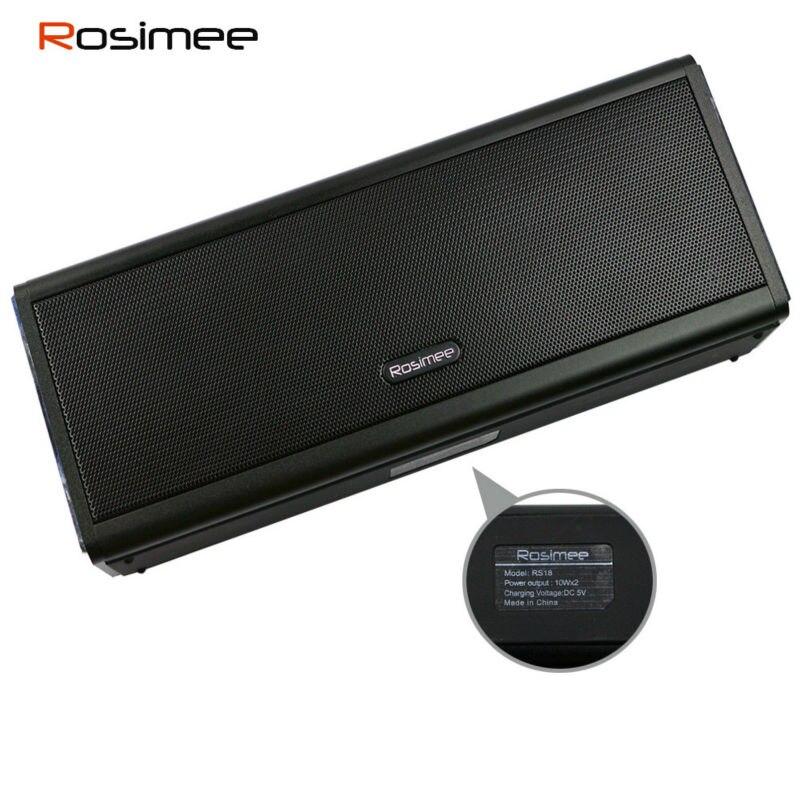 Super Bass 20W Bluetooth Speaker 4400mAH Power Bank Powerful Portable  Wireless Computer Metal Car Speaker Mic