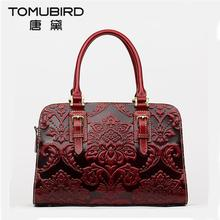 2016 New luxury handbags women bags designer chinese style embossed quality genuine leather women handbags shoulder bag