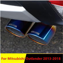 Exhaust-Muffler Mitsubishi Outlander Chrome-Modified Stainless-Steel Car Throat for 1-To-2