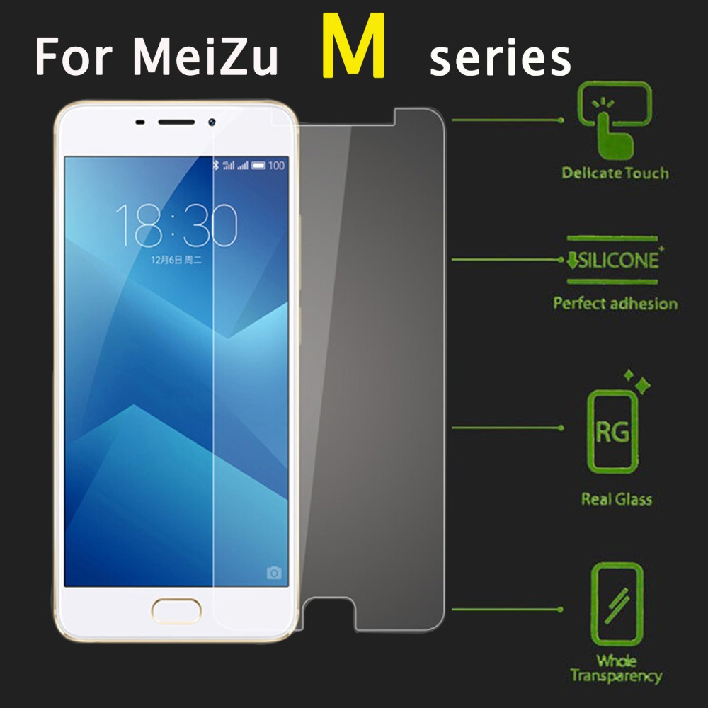 For meizu m6 note screen protector on meisie meizy tempered glass protective film meuzu m3 m5 m5c glas m 5 c 3 6 not 5m 6m tremp image